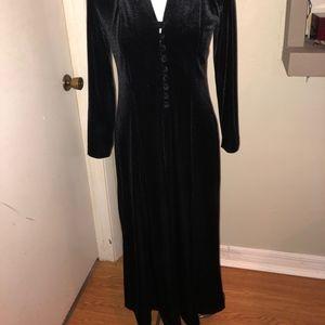 Coldwater Creek black velvet  dress petite M